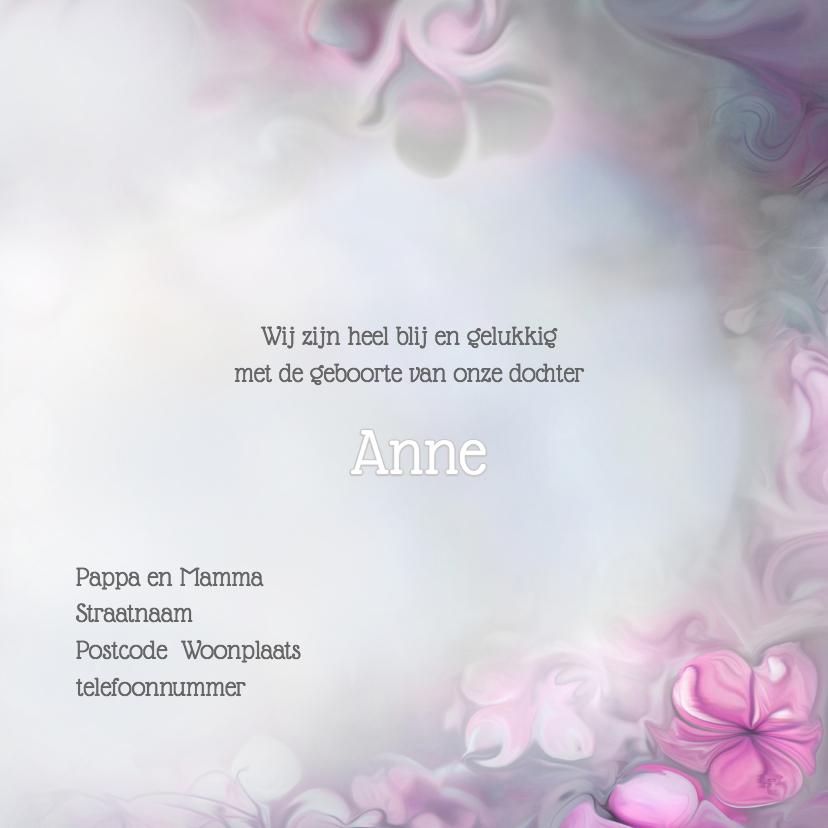 Bloemen en vlinders - meisje- 3