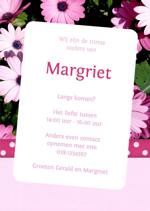 Bloemenkaart Margriet - BK 3