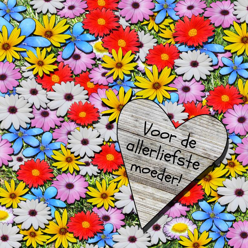 Bloemenveld met hart