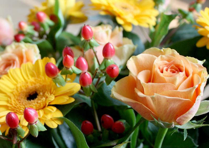 boeket met roos 1