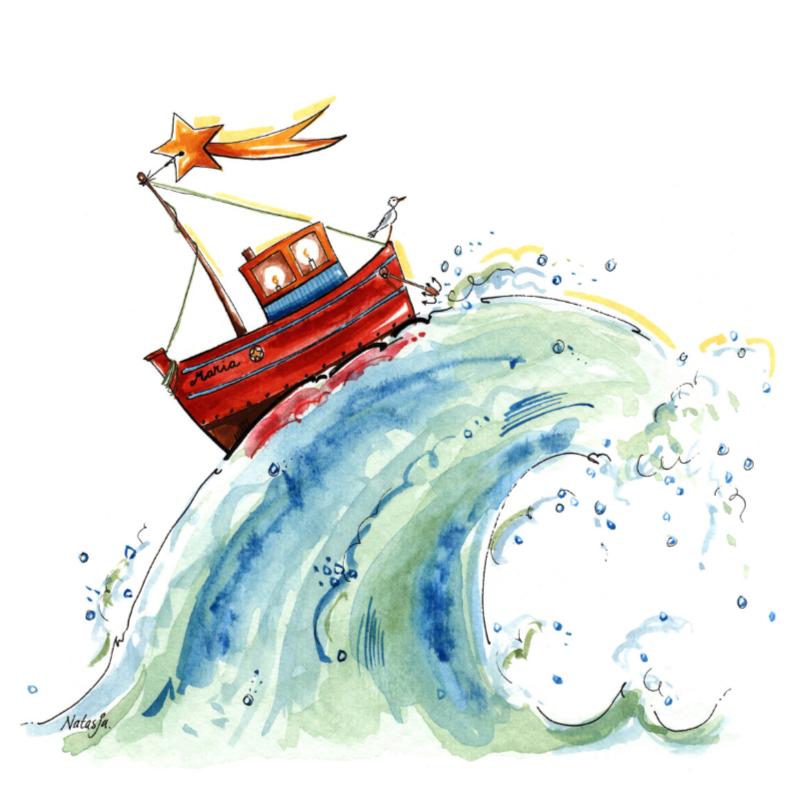 Bootje op zee 1