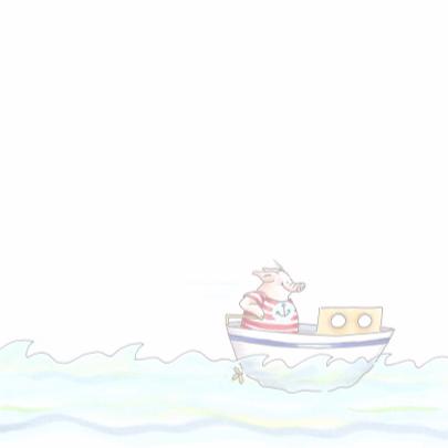 Bootje varen over zee 3