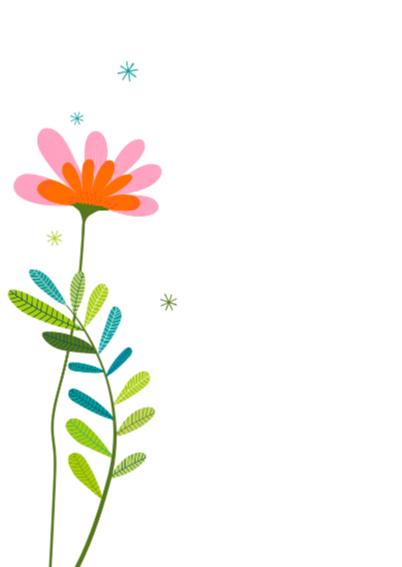Bos bloemen in een vaas op bruin craft papier 2