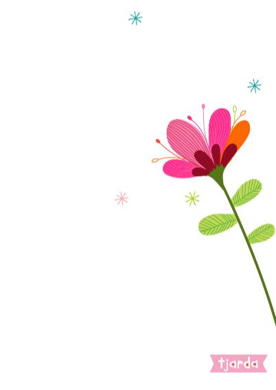 Bos bloemen in een vaas op bruin craft papier 3