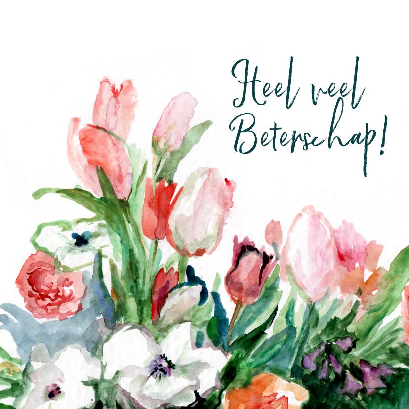 Bos lentebloemen aquarel 1