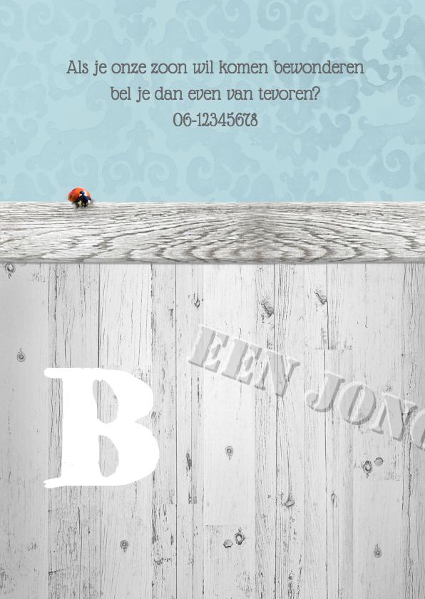Brocante,  hout en lint -jongen- 2
