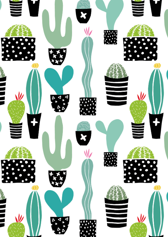 "Cactissimo ""Cactus patroon"" 1"