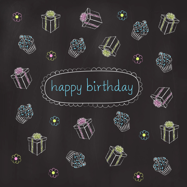 Chalkboard Birthday 1