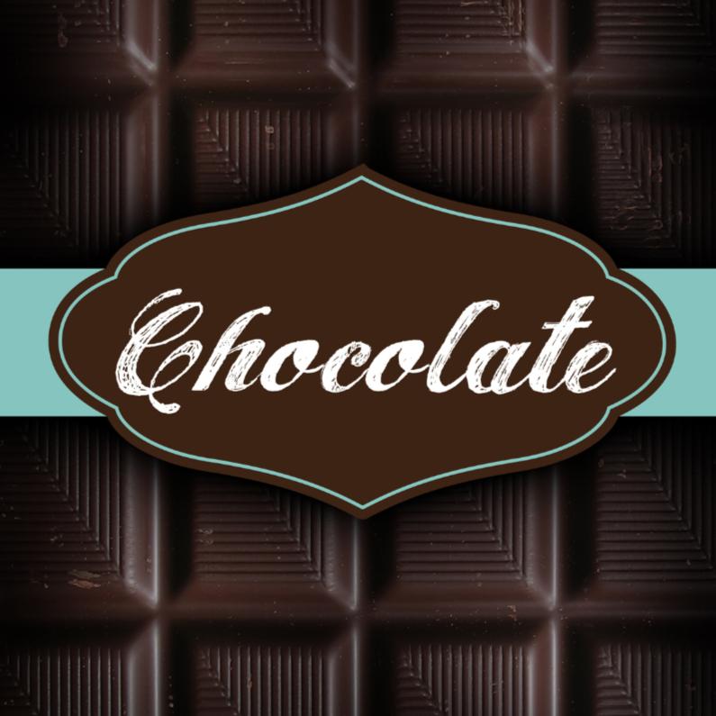 chocolade kaart reep