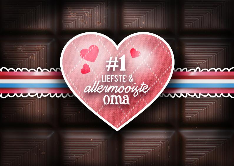 Chocoladekaart - oma 1