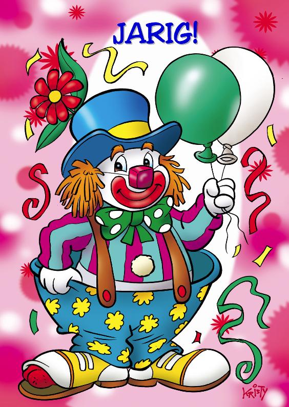 clowns verjaardag 1 clown twee ballonnen 1