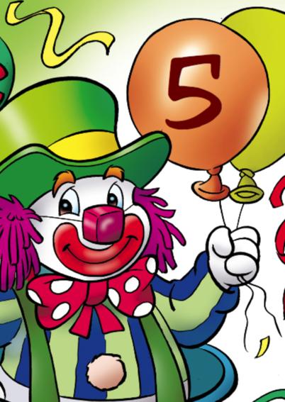 clowns verjaardag 3 clown met hondje 2