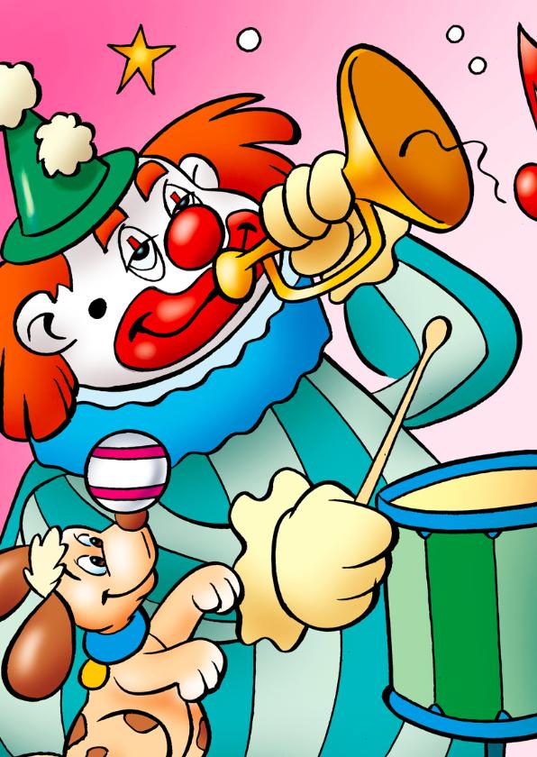 clowns verjaardag 5 clown met zeehond 2