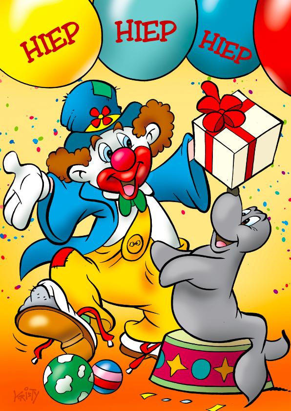 clowns verjaardag 5 clown met zeehond 1