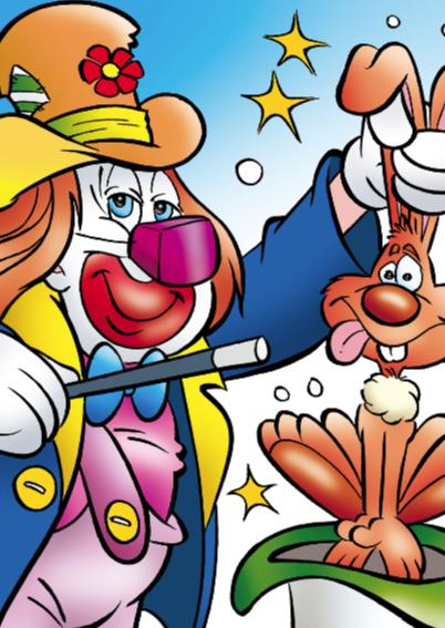 clowns verjaardag 9 clown met trompet 2
