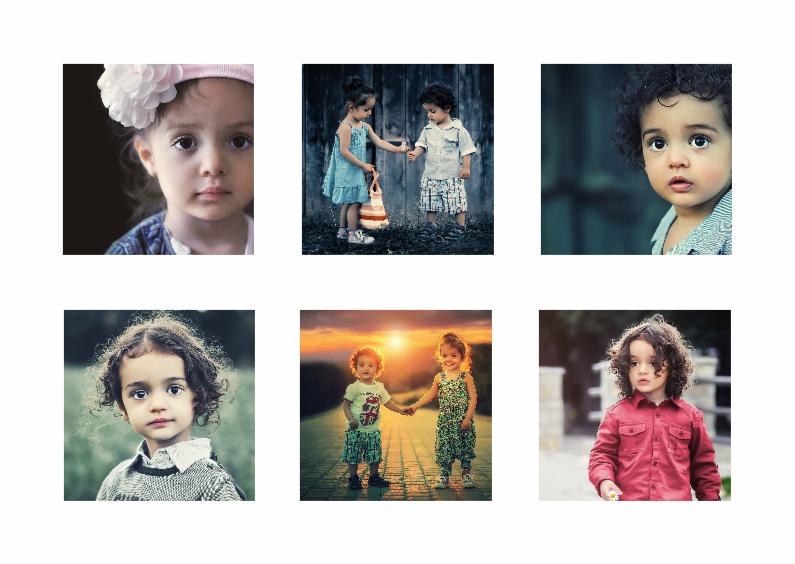 Collage kaart kinderfeestje - DH 1