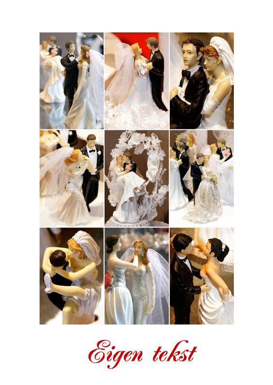 Collage trouwkaart - Bruidsparen 1