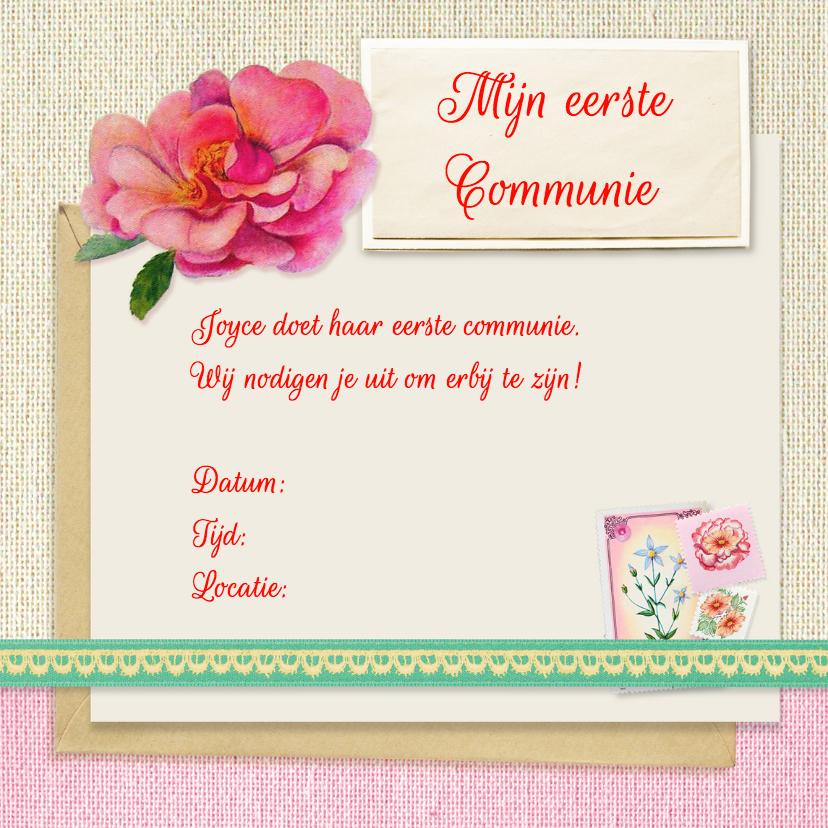 Communie bloemen meisje 3