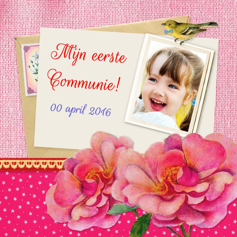 Communie bloemen meisje 1