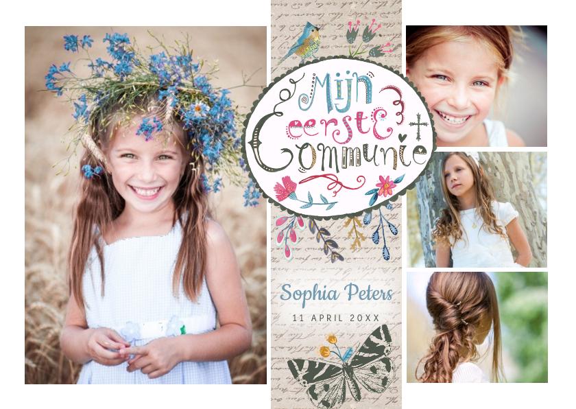 Communie collage uitnodiging 1