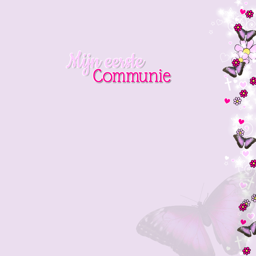 Communie LIEF foto vlinder ster  3
