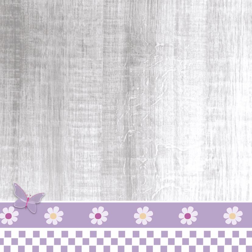 Communie lila met harten en foto 2