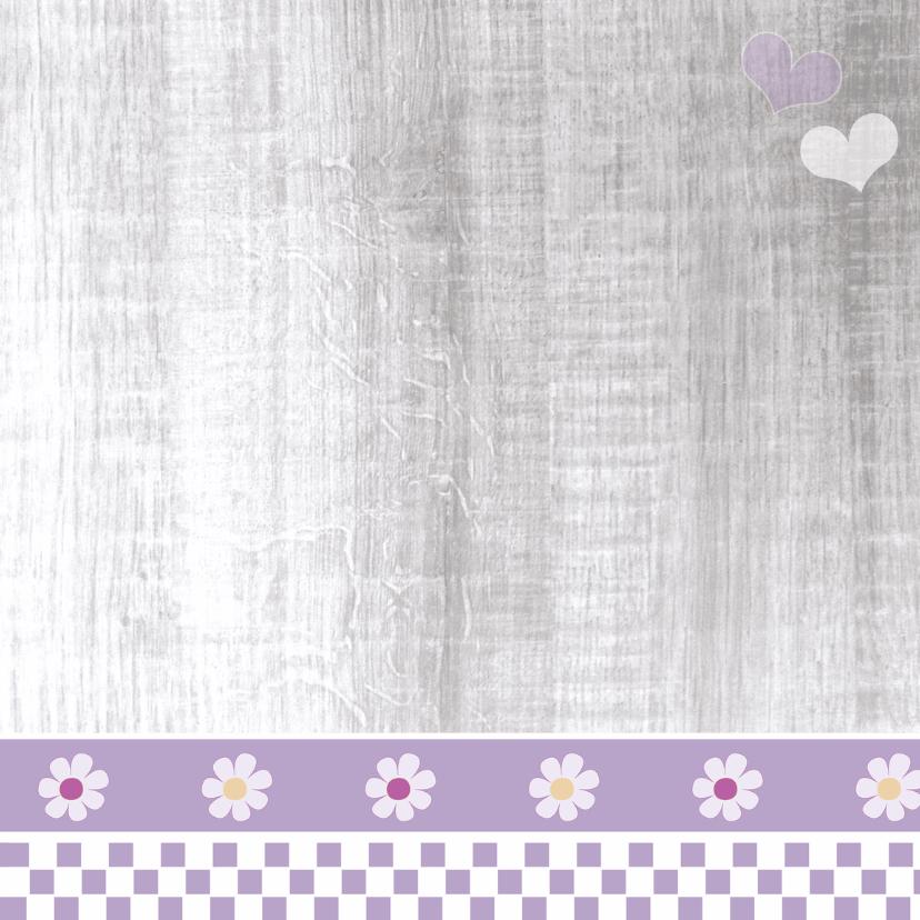 Communie lila met harten en foto 3