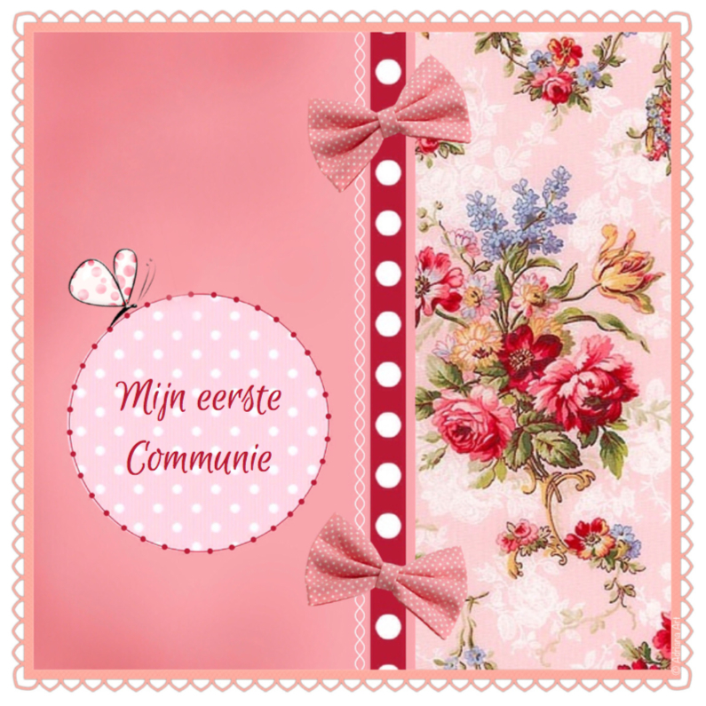 Communie meisje Mixed Media 1