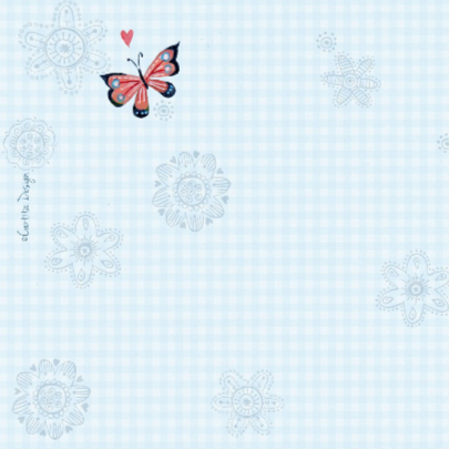 Communie Vlinders BB ruitje blue 2