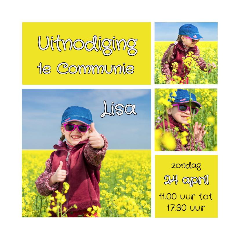 Communiekaart collage geel - OT 1