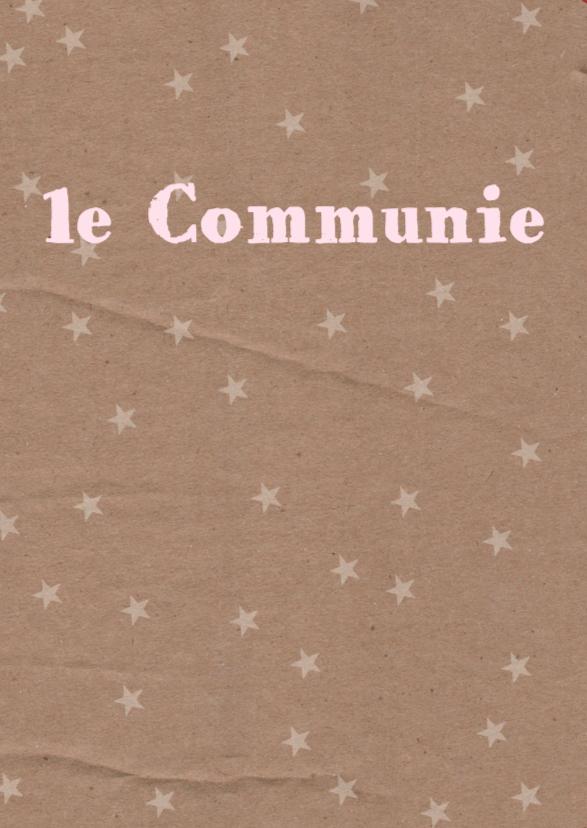 Communiekaart letterslinger roze 2