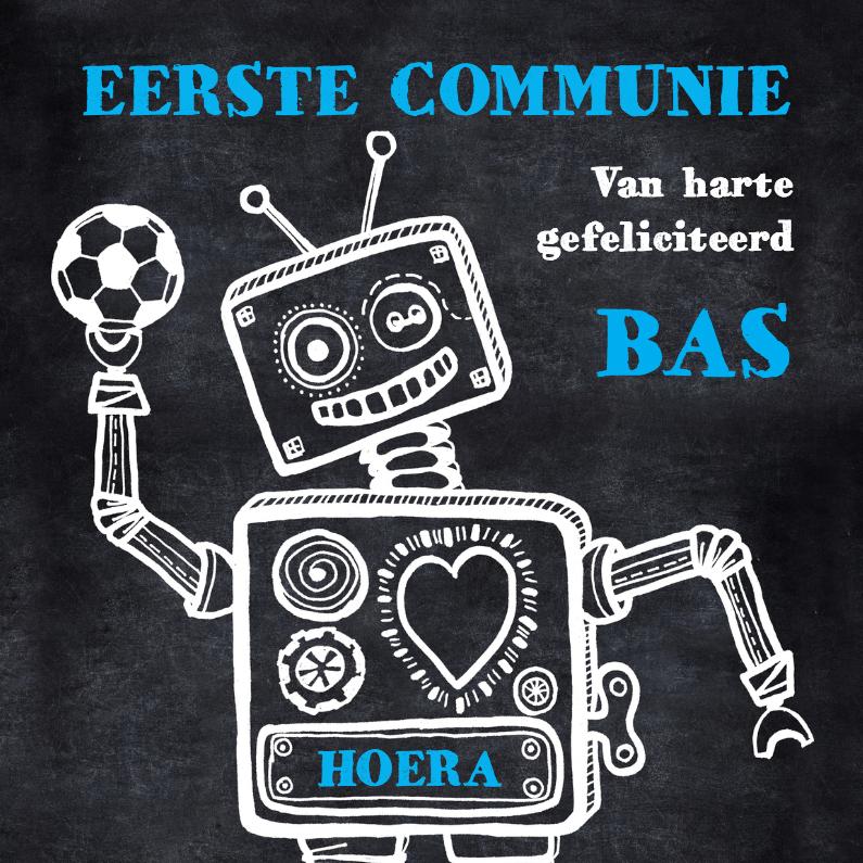 Communiekaart robot voetbal 1