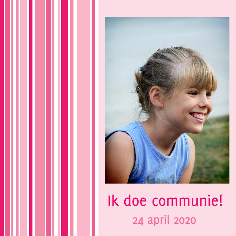 Communiekaart voor de eerste communie 1