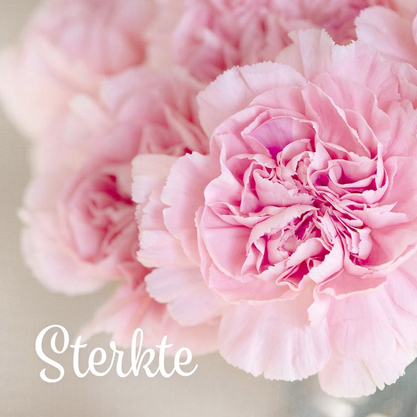 Condoleance kaart bloem - DH
