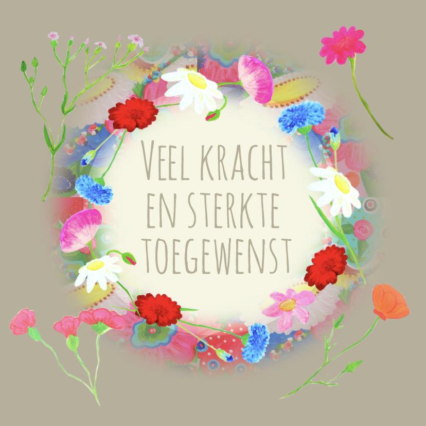 Condoleancekaart bloemen PA