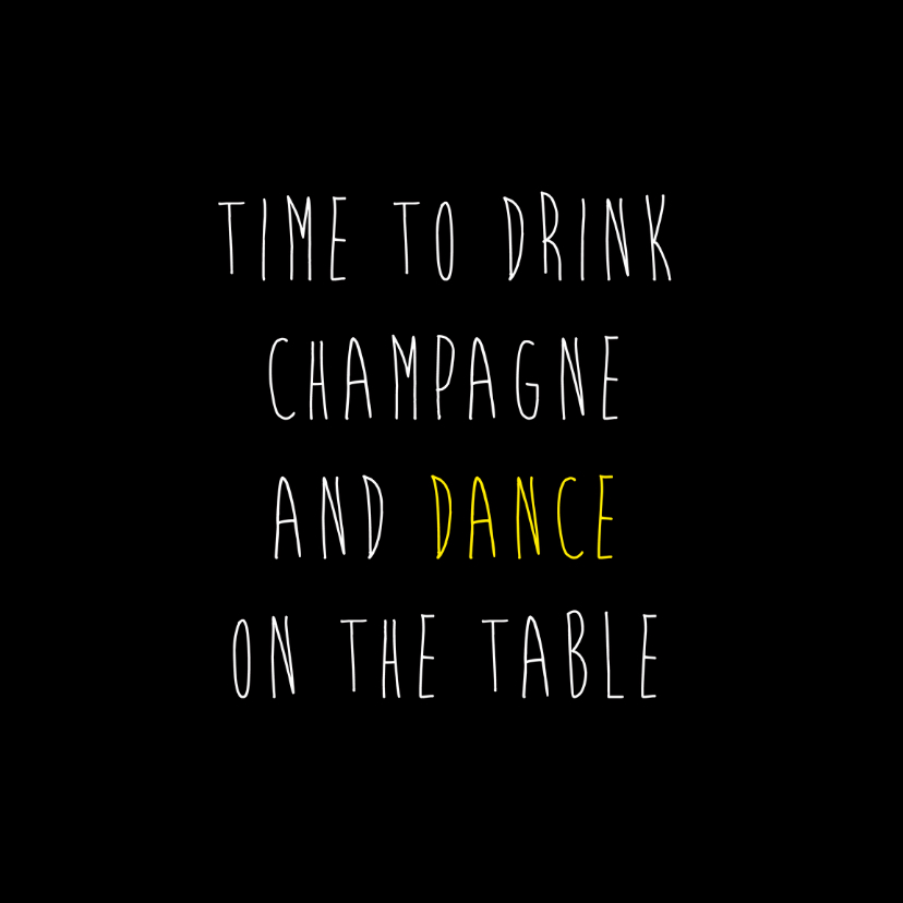 Dance on the table 1