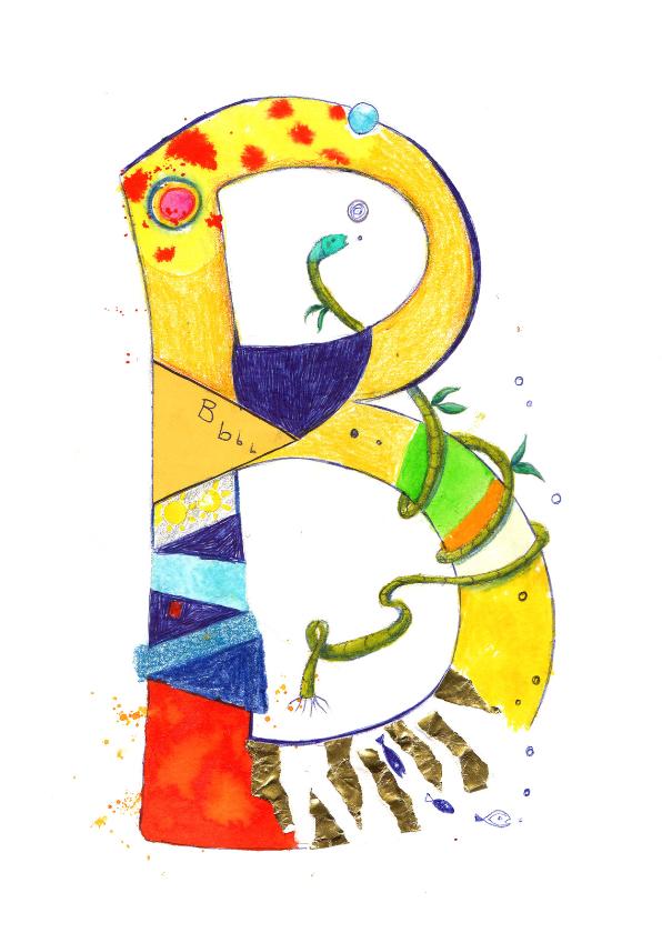 De letter B 1