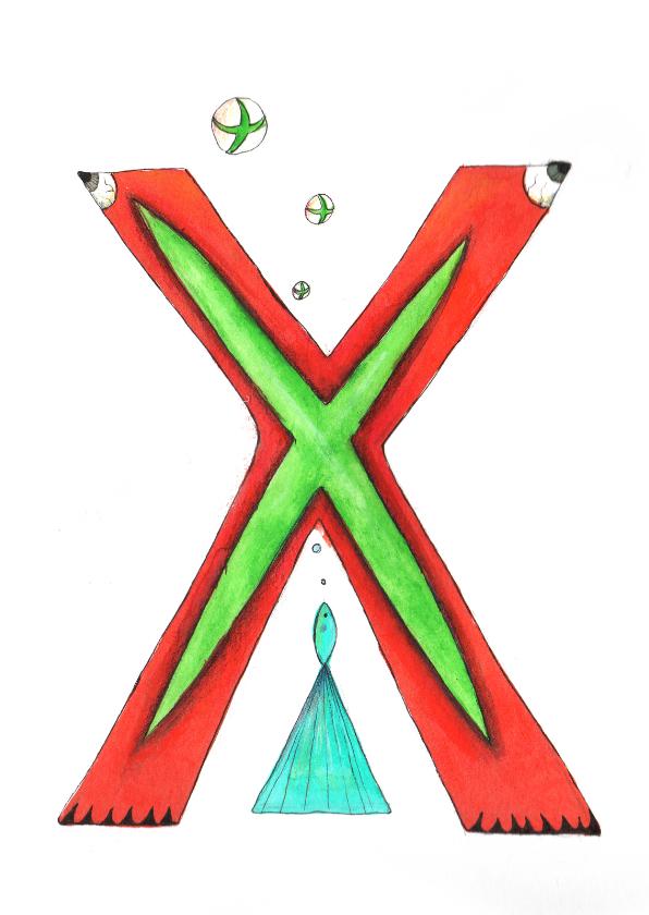De letter X 1