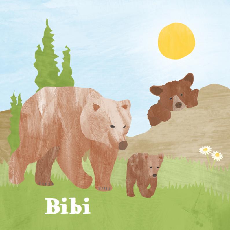 Dieren geboortekaartje beren 1