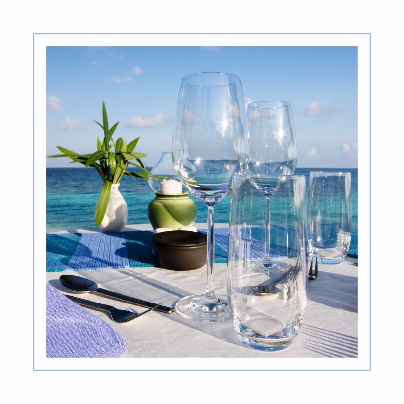 diner kaart azuur blauw 1