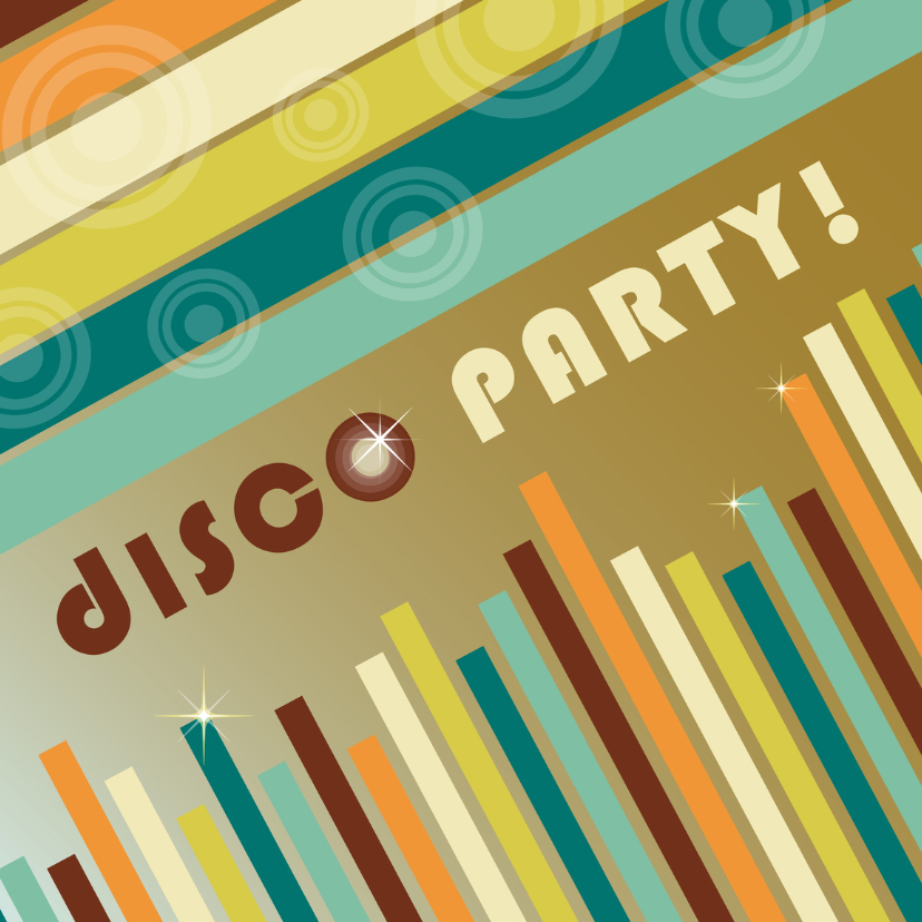 Disco party uitnodiging 1