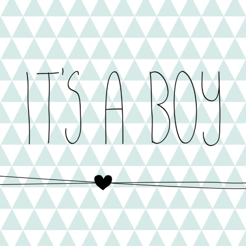 Driehoekjes 'it's a boy' 1
