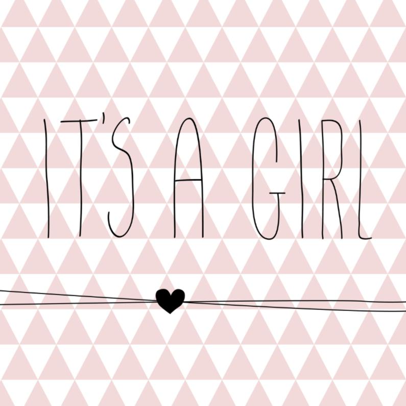Driehoekjes 'it's a girl' 1