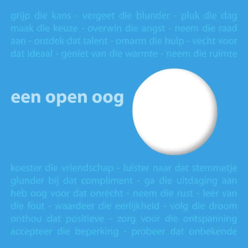 Een open oog 1