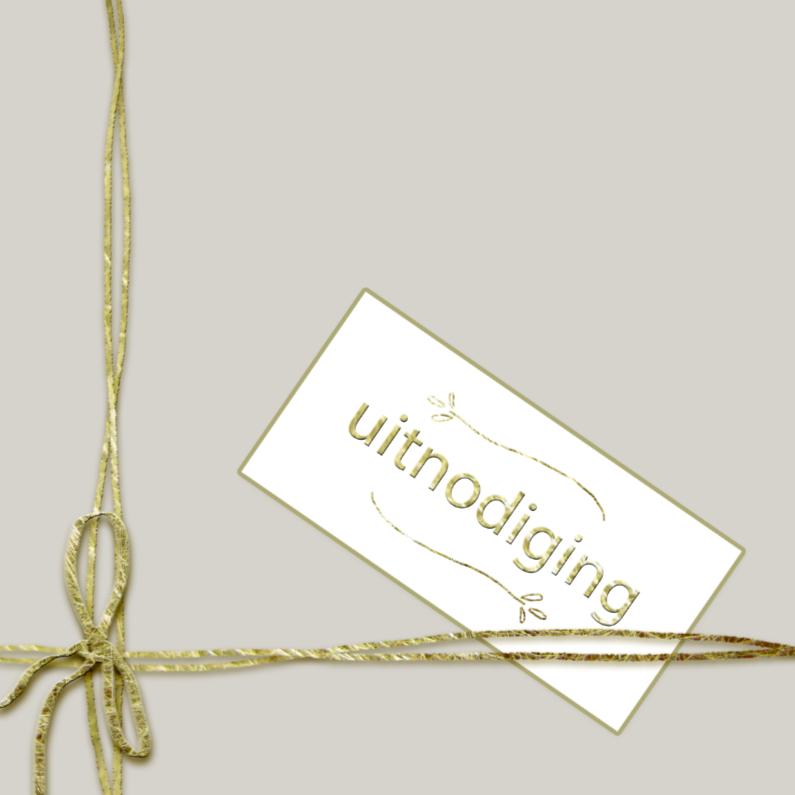 eenvoudige stijlvolle uitnodiging 1