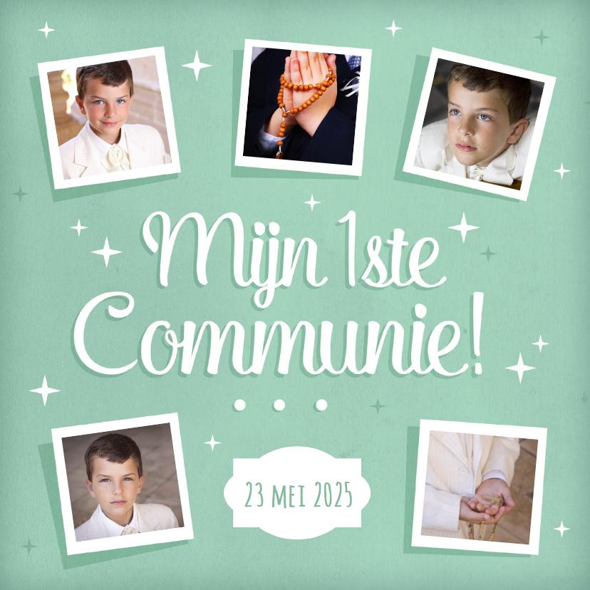 Eerste communie fotokaart collage  1