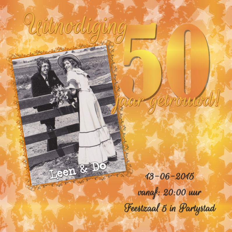 Feest! 50 jaar getrouwd! goud! 1