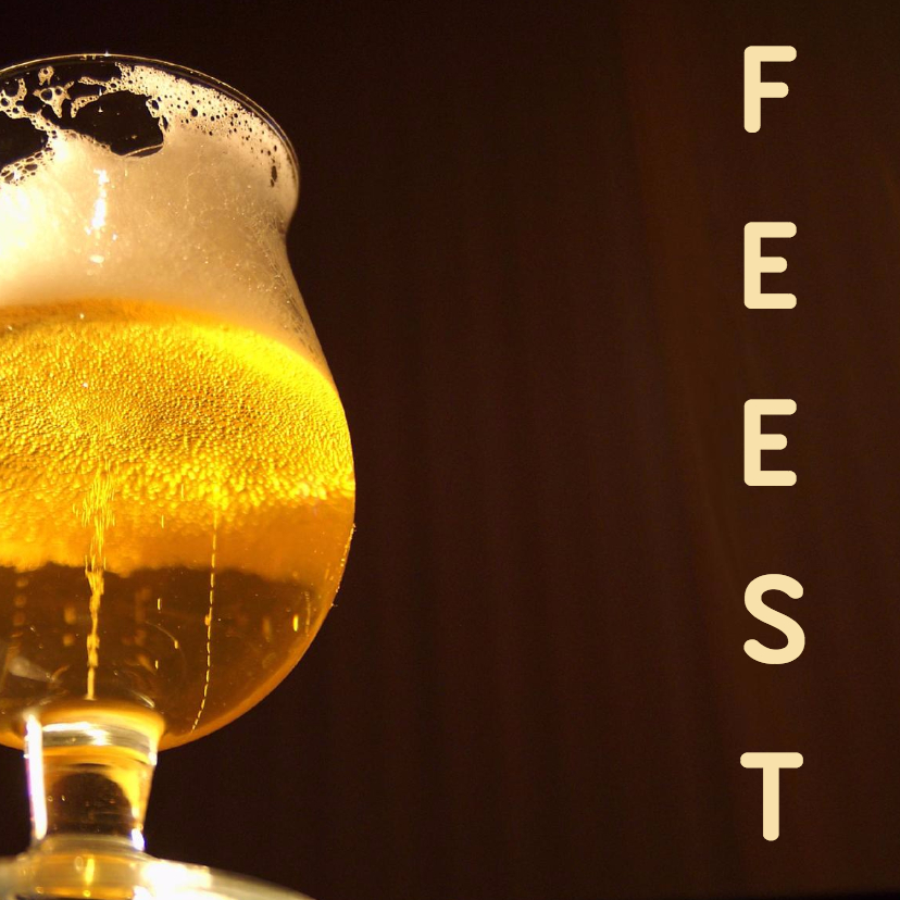 Feest kaart bier 1