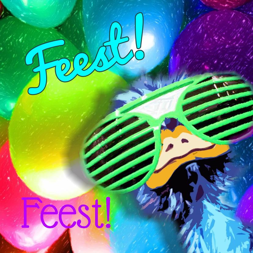 Feest party struisvogel balonnen 1