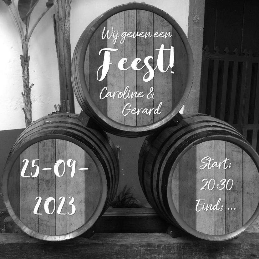 Feest wijnvaten zelf invullen 1